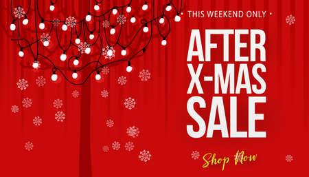 After christmas sale concept banner Illustration