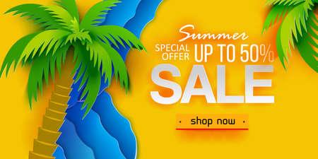Discount offer tropical summer Banco de Imagens