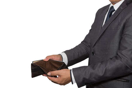 indigent: Having no money concept (hand show an old wallet)