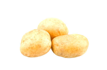 Three large potatoes on a white background for your website or recipes, and all this is in isolation Stock Photo - 16501672