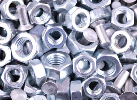 Nuts of bolts as a background or the picture for your site