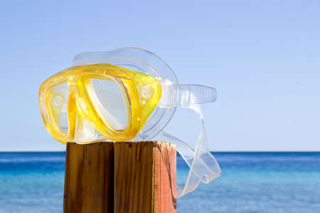 parting the sea: scuba mask  summer is over