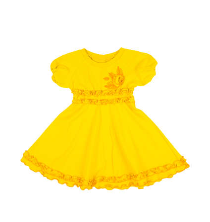 baby yellow dress isolated on white background Stock Photo - 20145341