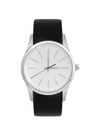 without people: wristwatch on a white background