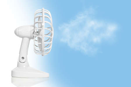ventilator: table fan isolated on a sky background
