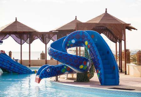 A children slide in the waterpark