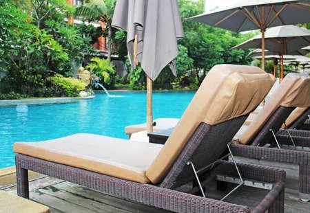 lounge at tropical resort