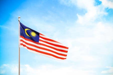 malaysia city: flag of Malaysia Stock Photo