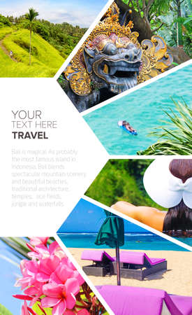 abstract postcard symbols of travel