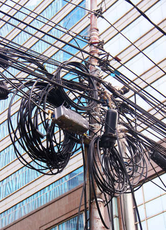 fiber optic lamp: electrical cables in Asia