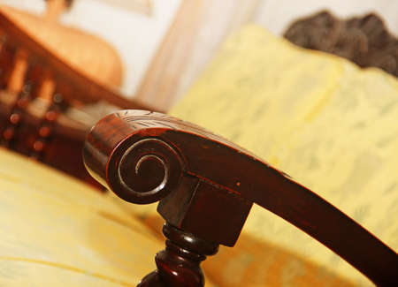 antique furniture: vintage antique furniture hardware indoor Stock Photo