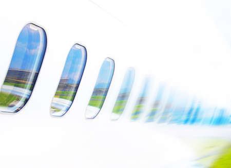 Windows airplane on blue sky background