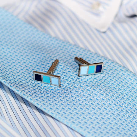 drycleaning: cufflinks and shirt Stock Photo