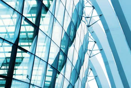 construccion: edificio de cristal de la ventana primer plano