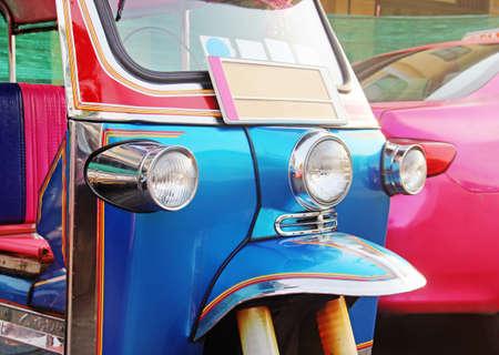 tuktuk: blue Tuk-Tuk  urban vehicle
