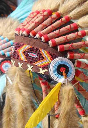ceremonial clothing: american indian  traditional costume Stock Photo