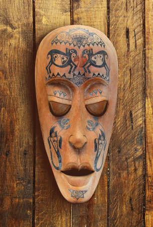 ritual: Wooden carved ritual statue face