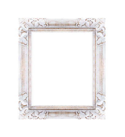 white frame is isolated on white background Imagens