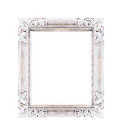 white frame is isolated on white background Reklamní fotografie