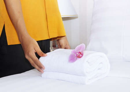 roomservice: cleaning in a hotel room