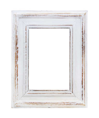 wood craft: frame is isolated on white background