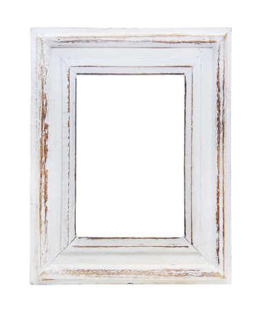 marco madera: marco est� aislado en el fondo blanco Foto de archivo