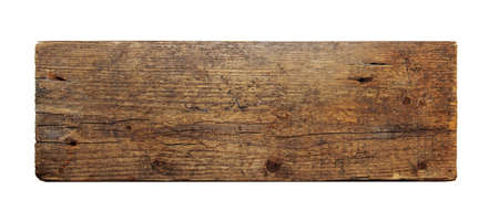 vintage timber: old wooden board isolated on white background