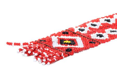 bead jewelry: ethnic beaded jewelry   isolated