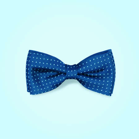 wedding accessories: bow-tie  on a blue background