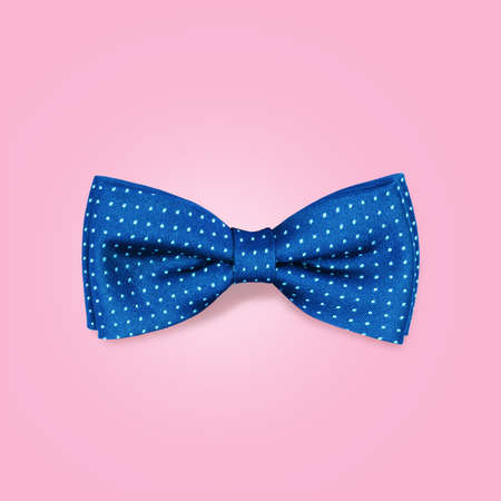 bow: bow-tie  on a pink background