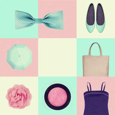ropa de verano: conjunto de ropa collage