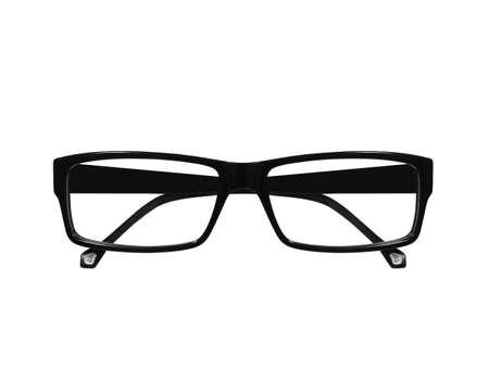 bifocals: black  glasses isolated on white