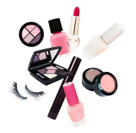 Cosmetics set isolated on white background Imagens