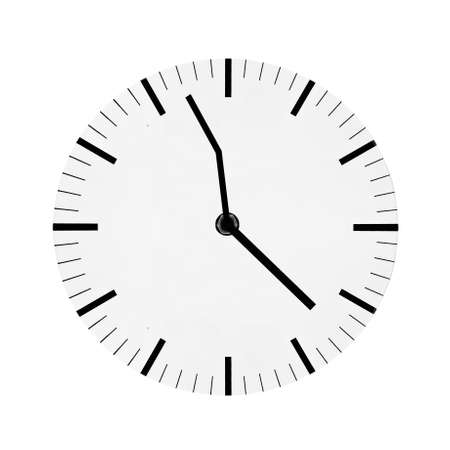 curved arrows: Watch with curved arrows isolated on a white background