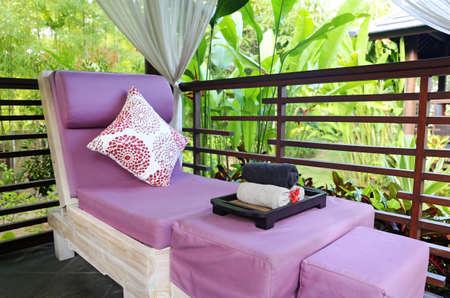 spa massage room in the garden