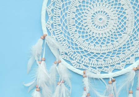chic: Dreamcatcher on a blue background
