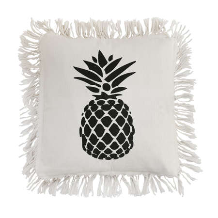 pillow pineapple isolated on white background. Details of modern boho style eco design