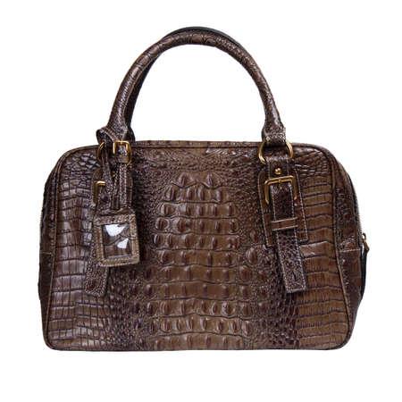bag isolated on white . exotic purse handbag Archivio Fotografico