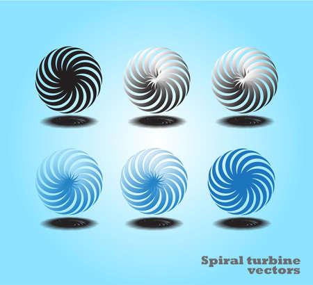 color background spiral motion 6 set. Stock Vector - 81011733