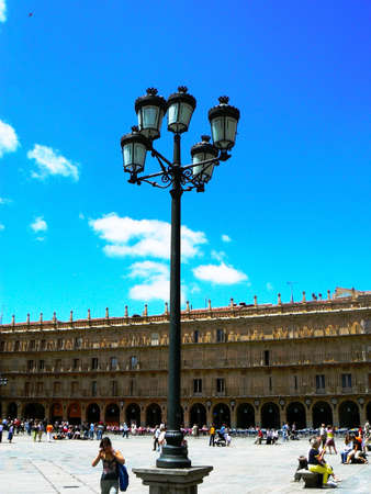 Streetlight in Salamanca Main Square