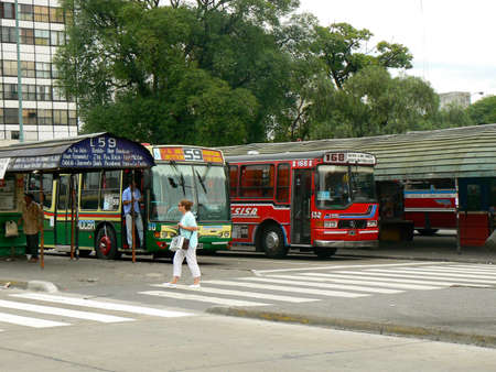 argentina dance: Buses in Boca - Buenos Aires Editorial