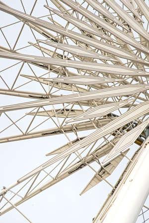 framing: Ferris Wheel Metal Framing Stock Photo