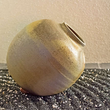 Japanese ceramic jar photo