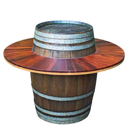 round table: Round Table made from wine barrel