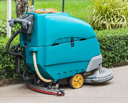 Close up of Floor Cleaning machine.