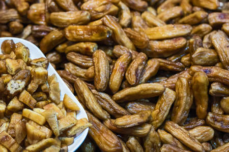 sun dried banana, Honey Baked Bananas of Thailand. Stock Photo