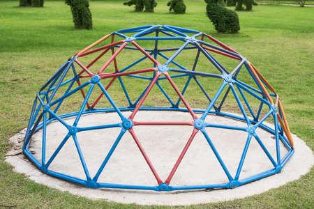 Playground for children play in garden. Stok Fotoğraf - 101507135
