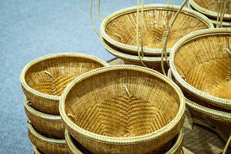 Bamboo basket made from Thai handicrafts.