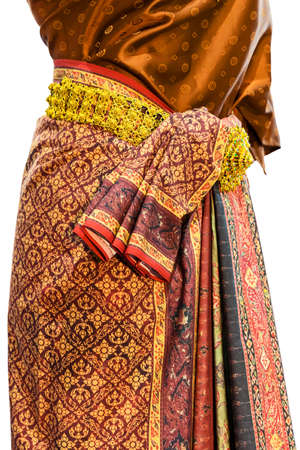 Thai pattern printed fabrics began to be used in Lopburi period.