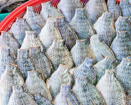 Oreochromis niloticus, cleaned, ready for sale. 版權商用圖片
